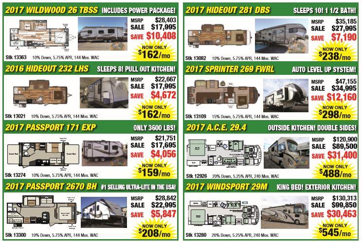 Sale RVs