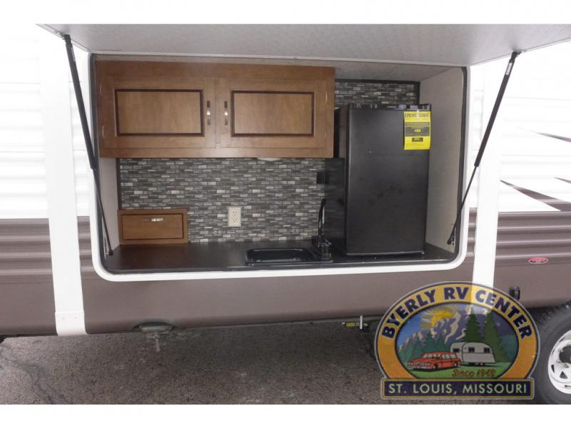 Forest River Wildwood Travel Trailer Outdoor Kitchen