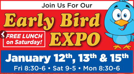 Byerly RV Early Bird Expo Free Lunch