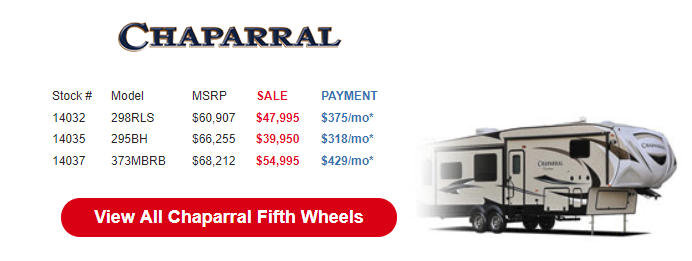 Byerly Anniversary RV Sale Chaparral