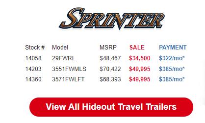 Byerly Anniversary RV Sale Sprinter