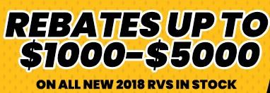 Byerly RV 70th Anniversary Sale RV Rebates