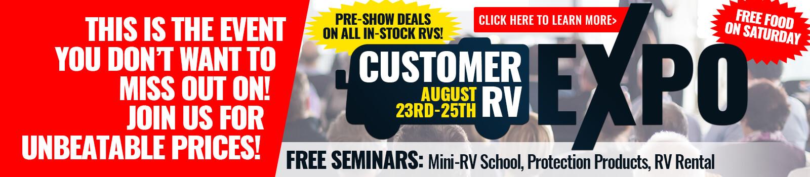 RV Expo Byerly RV RV Show August Banner