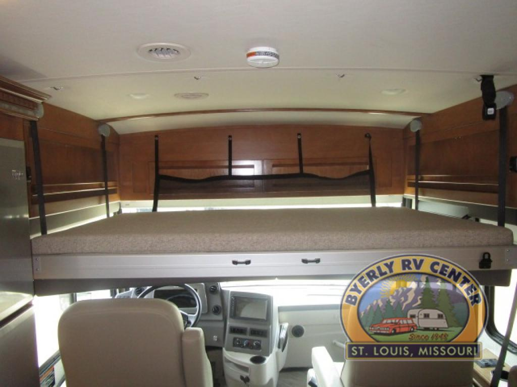 Winnebago Forza Review Class A Diesel Motorhome Overhead Bunk Down