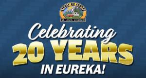 Byerly RV celebrating 20 Years of the RV lifestyle in Eureka, Missouri