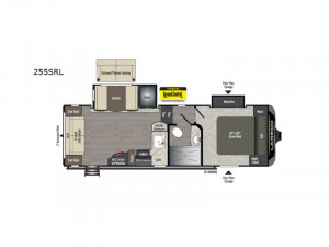 The Keystone Laredo 255SRL 5th Wheel is barely over 7000 pounds and easily half-ton towable.