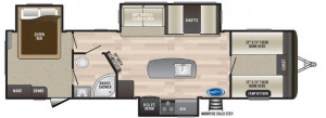 There's tons of sleeping in this Hideout travel trailer with front bunk room and huge rear queen bedroom.