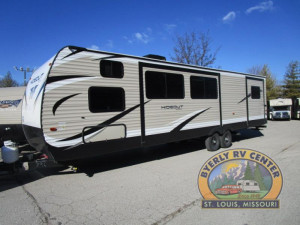 See the loaded Keystone Hideout 32FBTS quad bunk travel trailer at Byerly RV in Eureka, MO
