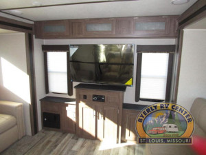Unlike other travel trailers, the Keystone Hideout features brand name bluetooth dvd/cd/mp3 stereo