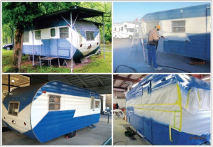 Byerly RV restored this travel trailer which had originally been build by Byerly in the 1960's.