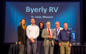 The 2017 class of RVBusiness Top 50 dealers were honored at a Nov. 8, 2017 awards reception in Las Vegas, NV