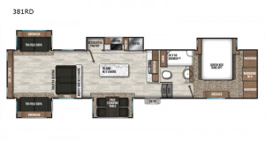 The Coachmen Chaparral 381RD 5th Wheel features spacious living, DSI winning quality, at a value price.  See the 381RD at Byerly RV in St. Louis, Missouri
