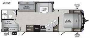 See the Keystone Passport 2820BH or one of Passport's other great floor plans at Byerly RV in St. Louis, MO