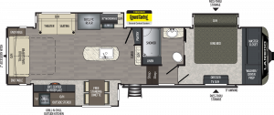 The Keystone Laredo 5th Wheel brand features large showers, king beds, automatic electronic leveling and more. See Keystone Laredo at Byerly RV in Eureka, MO