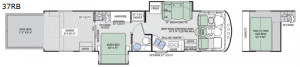 The 37RB features tons of sleeping including a queen bedroom and loft above the garage! Check it out at Byerly RV in St. Louis, MO