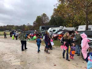 The Byerly RV Fall Customer Campout featured Trick or Treating for all the kids