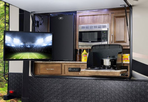 Check out the outside kitchen.  Imagine how many features Laredo packs into the interior!