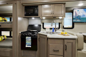Class A motorhome with bunks